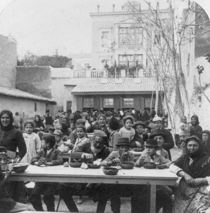 1897 - Orphans of Sultan's Victims, at the Cretan Refugees' Food Kitchen, Athens, Greece   Source: Library of Congress LC-USZ62-65955