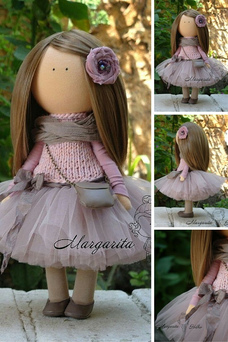 Unique doll Interior doll Handmade doll Rag doll Fabric doll Art doll Textile doll Doll toy by Master Margarita Hilko