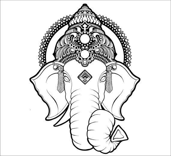 картинки индийского слона тату фронтальную