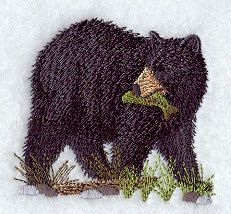 American Black Bear 3 Embroidered Terry by forgetmeknottreasure