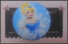 Botón Cenicienta Disney 5cm