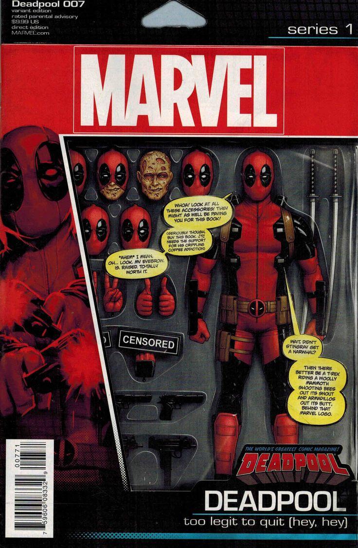 Action Figure Variant cover to Deadpool #7 (2016), art by John Tyler Christopher