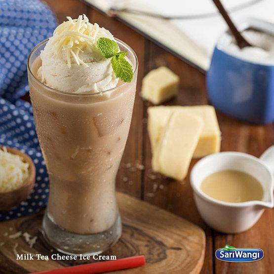 Resep Dessert Manis dan Cantik: Milk Tea Cheese Ice Cream