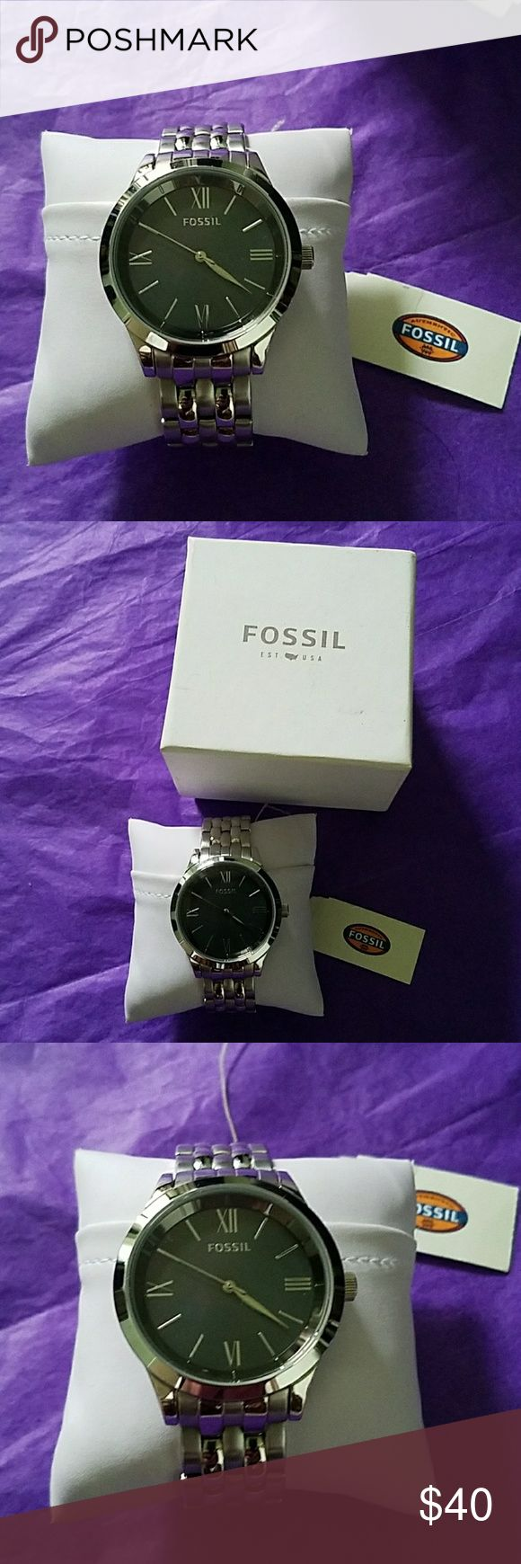 Authentic Fossil Ainsley Watch Brand new, worn once. Authentic Fossil Ainsley Silver Stainless Steel Mineral Quartz Watch BQ1758, 38MM Mother of Pearl Dial/Case. Needs a new battery, you can take any Fossil, MK & Relic watches to any Fossil Store or Outlet for a cheaper price in a battery replaced & for adding or removing any links..they will do that for free! MSRP $135 (FINAL PRICE) Fossil Accessories Watches