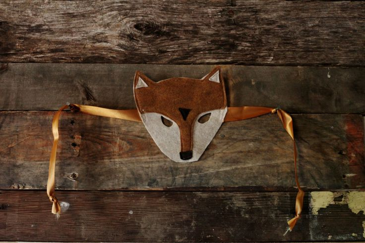 Flora & Fauna Fox Mask! Perfect holiday gift for the kiddies.  https://www.etsy.com/ca/listing/241490479/fox-mask