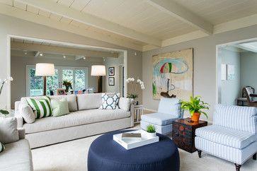 Hillsborough Family Residence midcentury living room
