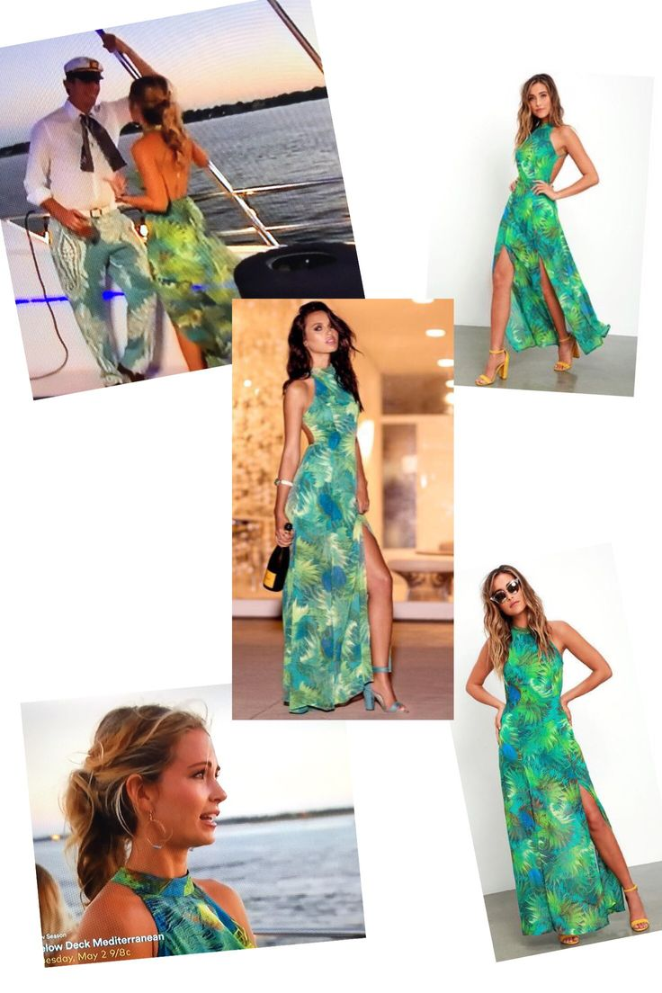 Cameran Eubanks' Green Tropical Print Maxi Dress at Shep's Birthday Party http://www.bigblondehair.com/reality-tv/cameran-eubanks-green-palm-print-maxi-dress/ Southern Charm Season 4 Episode 4 Fashion