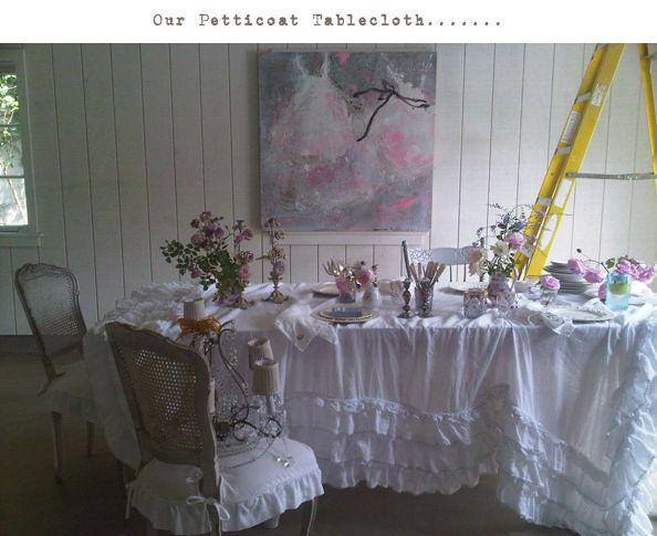 Shabby Chic   Love The Petticoat Tablecloth