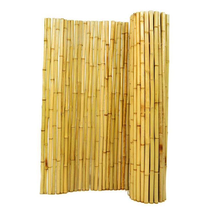 Backyard X-Scapes Rolled Bamboo Fence at Lowes.com ...