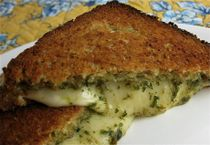Baked Grilled Cheese Pesto Sandwiches