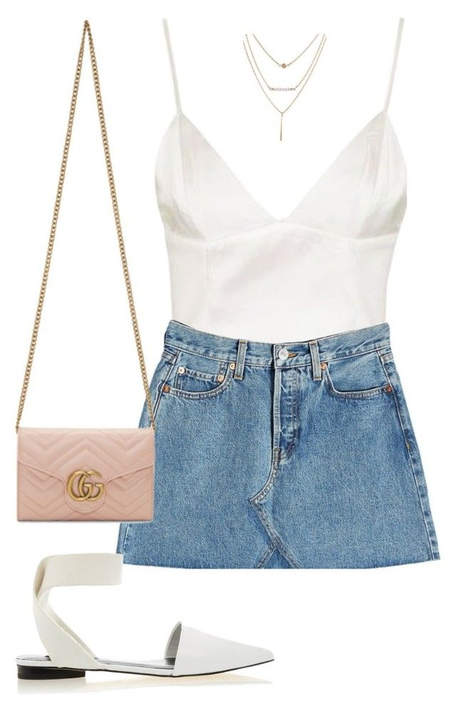 """""""Untitled #5321"""" by lilaclynn ❤ liked on Polyvore featuring Topshop, RE/DONE, Gucci, Senso, topshop and gucci"""
