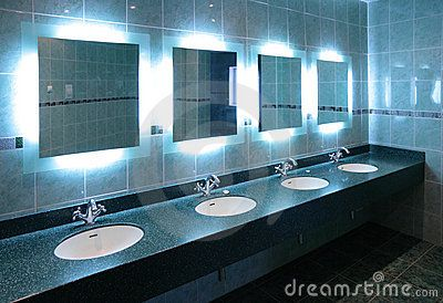 Washstands in public toilet
