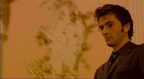 Best gif of David tennant I have ever seen >>>what makes it better is that he just came through a mirror into a French party riding a horse>>>I only pinned this for the gif guys