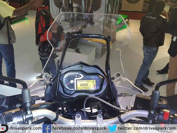 Benelli is displaying the TRK 502 adventure tourer at its stall at the 2016 Auto Expo. Click for the exclusive image gallery and more details.