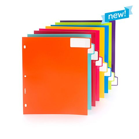 Awesome 3 Ring Tab Dividers In Multiple Colors: Set Of 8   Cool Office Supplies