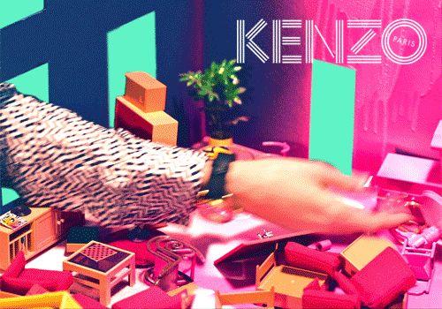 O Universo Surrealista da KENZO | Design Set - Live For Inspiration // #Campanha outono-inverno da #KENZO mergulha no universo #surrealista de David Lynch.