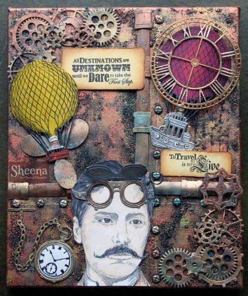Sheena Douglass' Time Traveller - #Crafting #Hobbies #Hochanda #dies #perfectpartners #CraftersCompanion - www.hochanda.com/