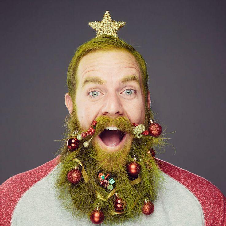 Beard Baubles - Weihnachtskugeln bzw. Christbaumkugeln für den Bart #beard #bauble #hipster #christmas #xmas #green #presents