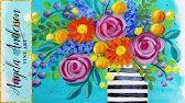 Boho Flower Series   Acrylbilder von Angela Anderson – YouTube
