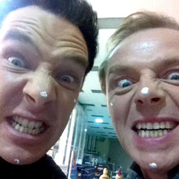 "Simon Pegg's infamous ""Neutron Cream"" prank during the filming of Star Trek: Into Darkness."