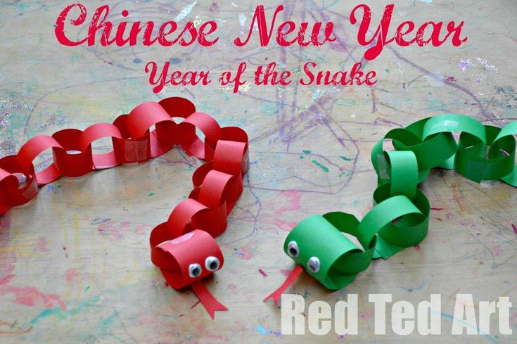 Red Ted Art's Blog » Blog Archive Chinese New Year for Kids - Paper Snake » Red Ted Art's Blog
