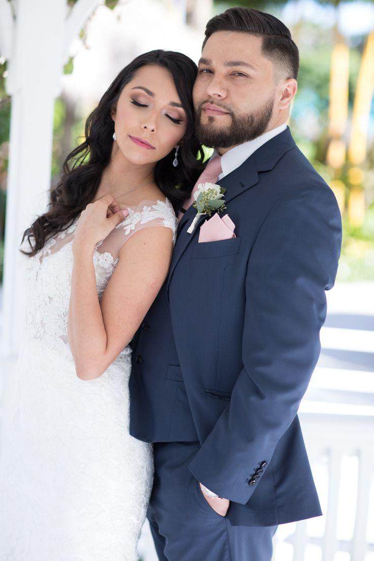 The Palms Hotel // Heather Funk Photography // Miami Beach // gazebo wedding // beach wedding // bridal gown // romantic wedding // wedding couple // boutonniere