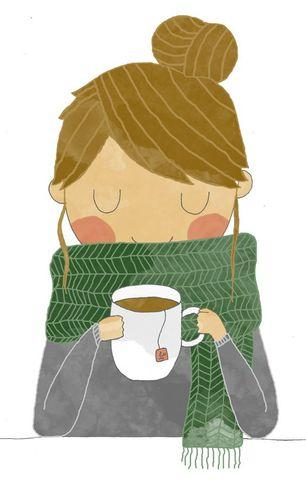 Coffee Girl Oleh Cuteness
