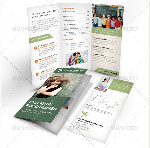 Brosur Sekolah - Education Trifold Brochure
