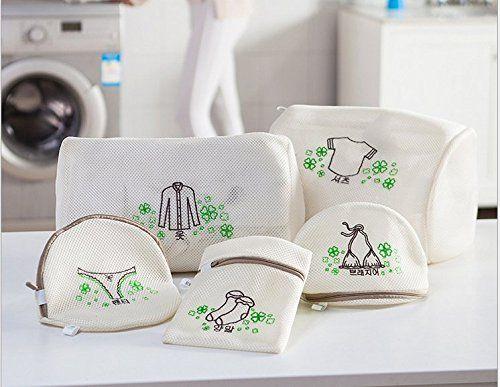 Borse lingerie per lavanderia Saint Kaiko Delicati lavanderia Borse (Set di 5) 2 grande, 1 medie, 2 Intimo sacchetto della lavata per Camicetta, Calze, Calze, Biancheria intima, Bra e Lingerie, e abbigliamento di lusso