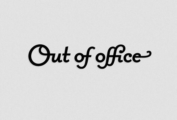 I Love Ligatures / Out of office by Shuka #lettering #typography