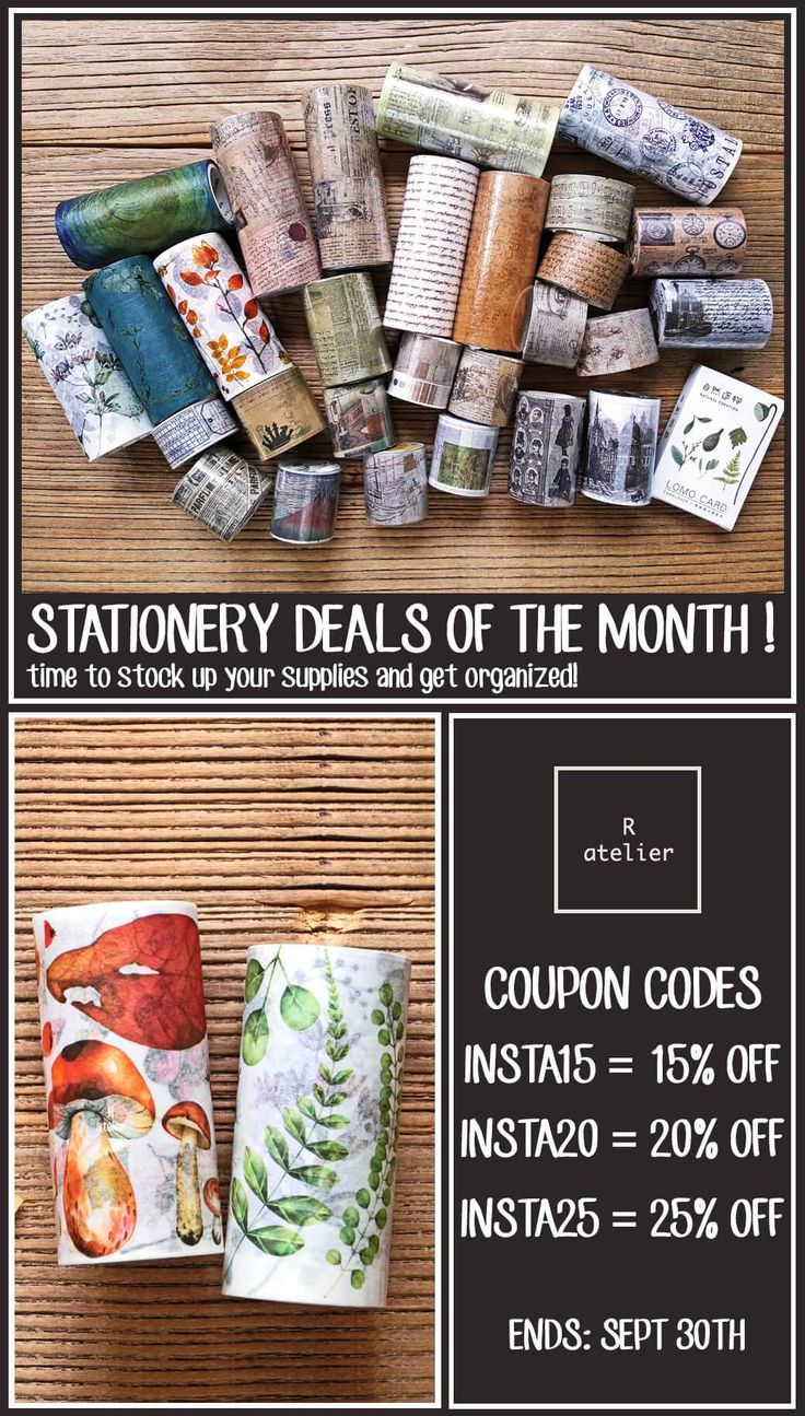 R.atelier Stationery Deals of the Month
