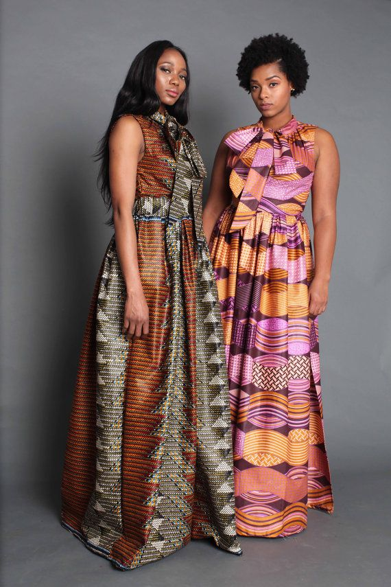 THE PAULINE Sleeveless Maxi Dress in Coral and Purple by OmiWoods Latest African Fashion, African Prints, African fashion styles, African clothing, Nigerian style, Ghanaian fashion, African women dresses, African Bags, African shoes, Kitenge, Gele, Nigerian fashion, Ankara,