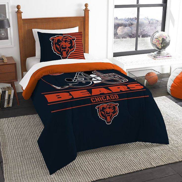 Chicago Bears Draft Twin Comforter Set by Northwest, Multicolor