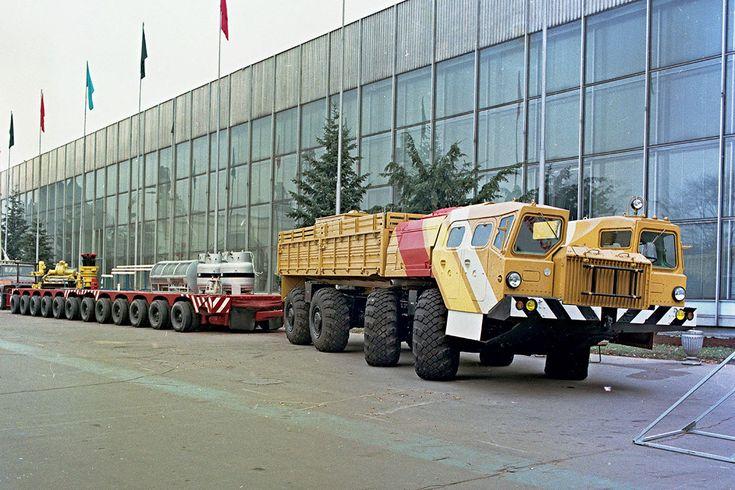 Белорусские богатыри: армейские тяжеловозы МАЗ   5koleso.ru МАЗ-7313 в роли буксировщика неделимых грузов для народного хозяйства