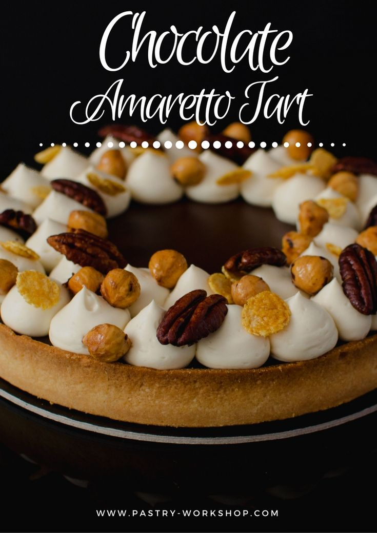 Chocolate Amaretto Tart is intense, pacjed with chocolate and Amaretto and so creamy and delicious!