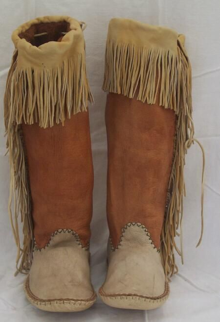 Apache style moccasins                                                       …                                                                                                                                                                                 More