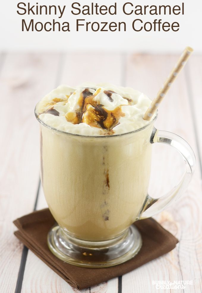 Skinny Salted Caramel Mocha Frozen Coffee | Recipe | Powder, Salted ...