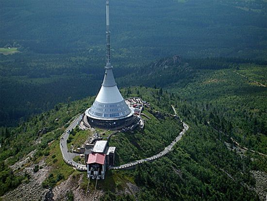 View of the Liberec region from Jested