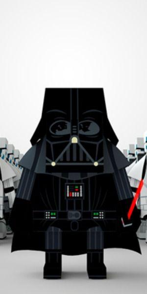 Vader / Momot Star Wars / MOMOT / Web: https://www.behance.net/gallery/MOMOT-STAR-WARS-PAPER-TOY/14514949