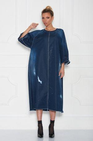 Jedinečné šaty z kolekcie FOR ME, s 3/4 rukávom, voľnejšieho strihu, okrúhlym výstrihom. Vhodné k teniskám, či lodičkám.