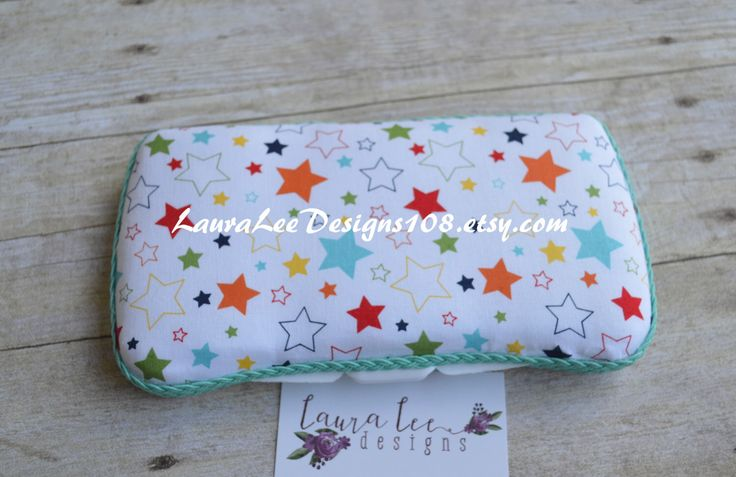 Stars on White, Travel Wipe Case, Baby Wipe Case, Personalized Wipe Case, Diaper Wipes Case, Baby Wipe Case, Colorful Star Wipe Case, Gift by LauraLeeDesigns108 on Etsy https://www.etsy.com/listing/117626845/stars-on-white-travel-wipe-case-baby