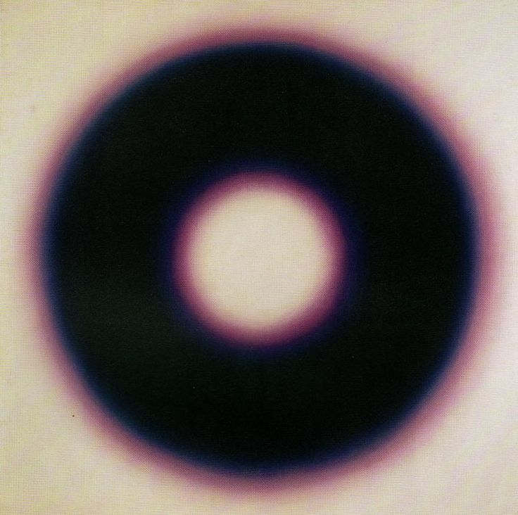 socialclaustrophobia:  Wojciech Fangor (Polish, 1922–2015),E 10, 1966. Oil on canvas, 127.5 × 127 cm, National Museum, Warsaw. via