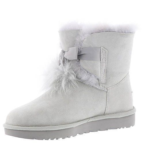 0c00ce50b8d Womens Ugg Australia Grey Violet Gita Pom Pom Suede Boots Size 11 ...