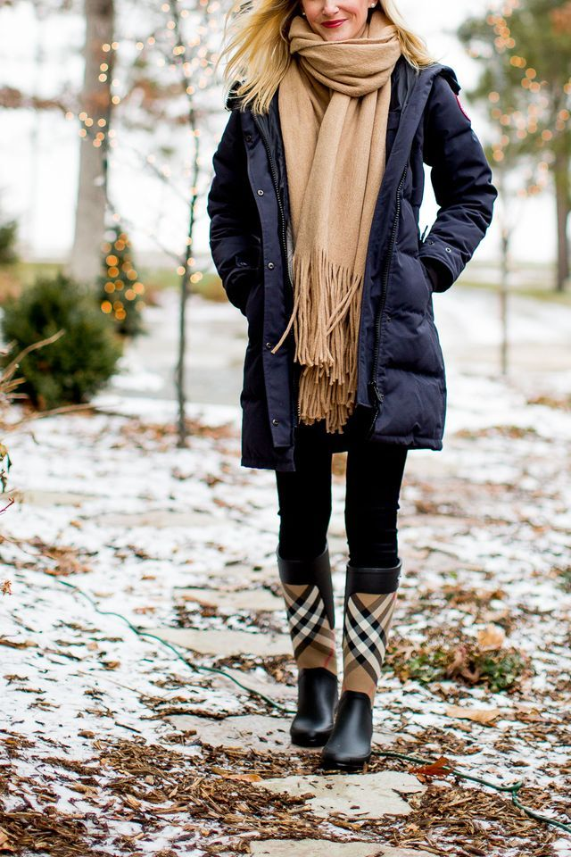 """Canada Goose on sale! (Use code """"NEWSFLASH. Runs true to size.) / Other products in these photos: Hunter Boots and Socks, Sorel Boots (Also here on SALE!), Burberry Snood (Also here and here; scarf he"""