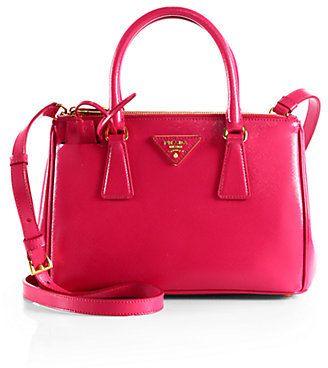 Prada Saffiano Vernice Tote, Saffiano leather design with hardware ...