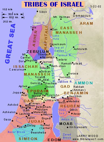 bible maps of 12 tribes of Israel | Divided Kingdom: 931BC ...