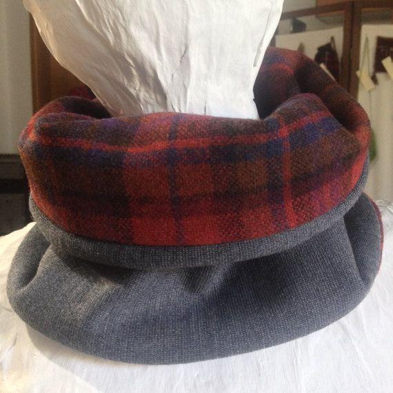 Neckwarmer cowl scarf Handmade double sided cowl by PixiesFairies