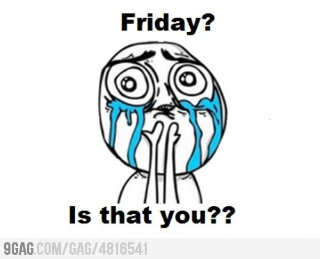Friday? I missed you!: Funny Things, Memes, Laugh, Quotes, Random, Funny Stuff, Humor, Friday, Cry