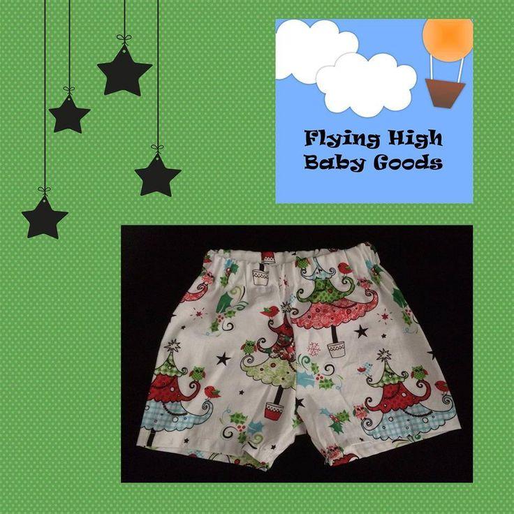 Flying High Baby Goods White Christmas PJ shorts