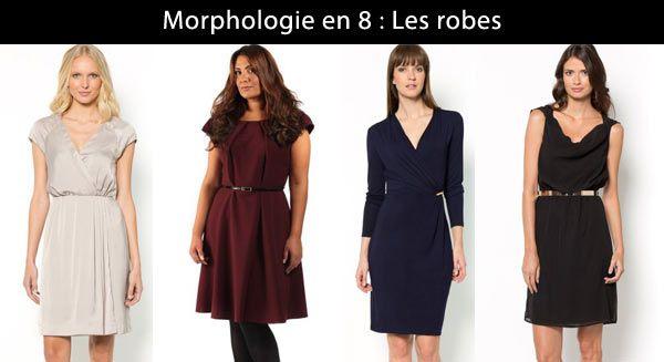 On choisit des robes avec des matières fluides et légères, avec la forme cache-coeur.
